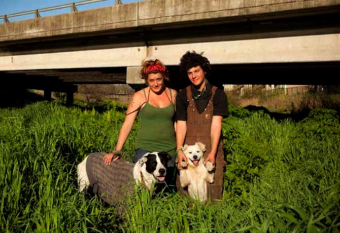 Personas sin hogar y sus perros